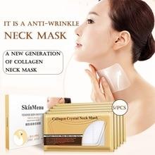 5Pcs/set Neck Masks Crystal Collagen Whitening Anti-Aging Nourishing Neck Firming Moisturizing Anti Wrinkle Neck Patches