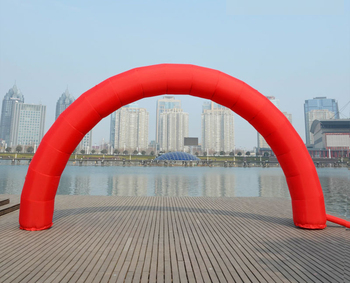 Brand New Discount 20ft*10ft D=6M/20ft inflatable Red arch Advertising Fast Free shipping