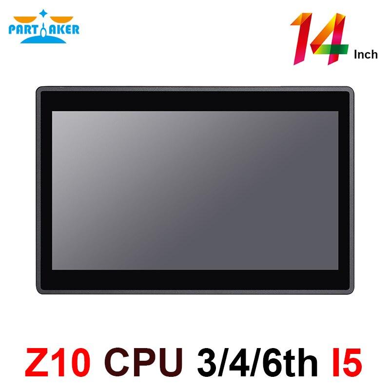 Participante elite z10 desktop tudo em um computador com 14 Polegada desktop 10 pontos tela de toque capacitivo intel core i5 3317u