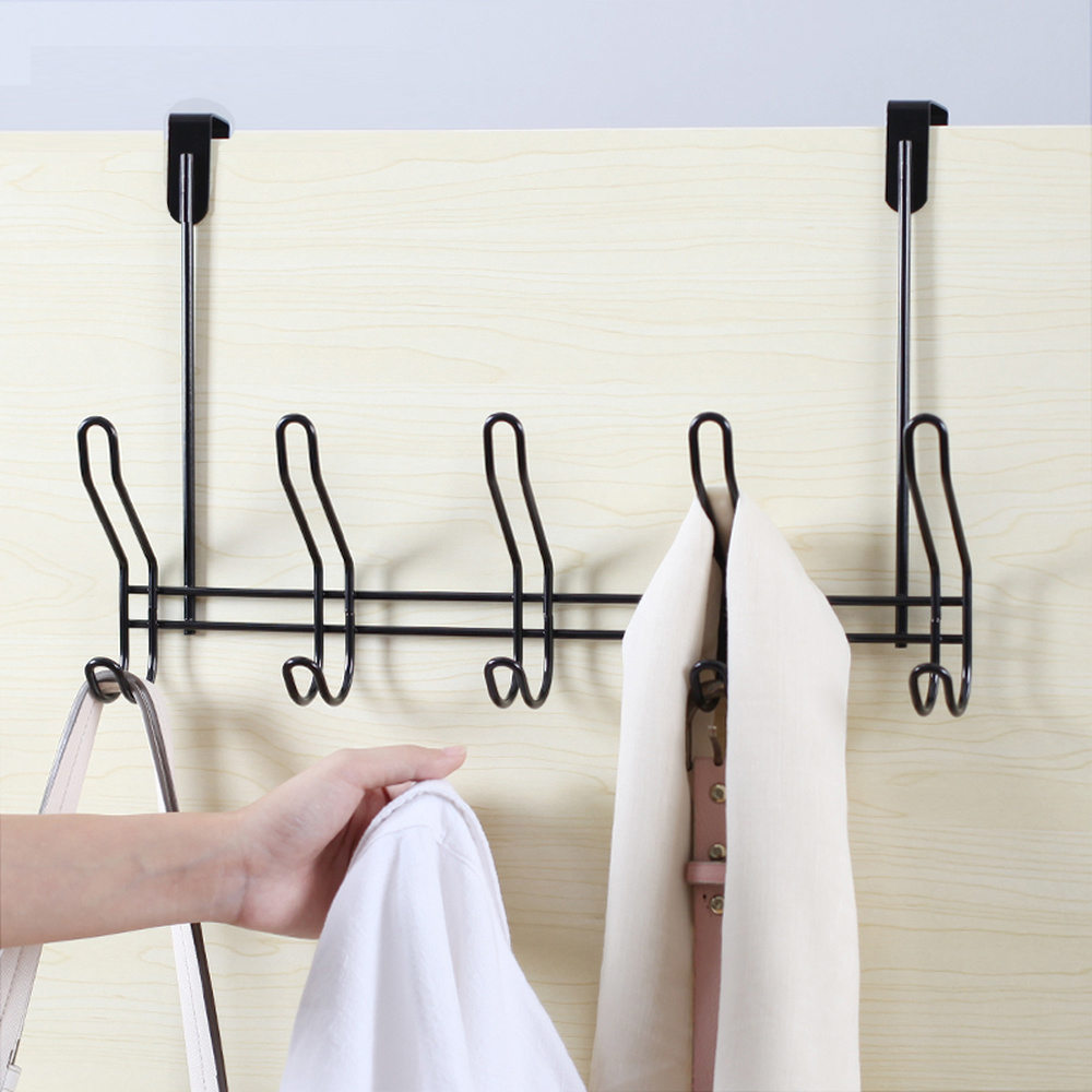 Permalink to Creative nailfree seamless wrought iron door coat hook clothes hanger bathroom towel rack kitchen cabinet storage rack wx8071635