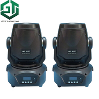 2pcs/lot 90W LED Gobo Moving Head Light 3 Face Prism DMX Controller for Stage Theater Disco Nightclub Party led spot lights