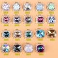 New design 50 pcs de Metal Nail Art Decoração Japão Praça Chrome 3D Liga Unhas Studs Trendsetter para Acrílico gel-ud2oo1688