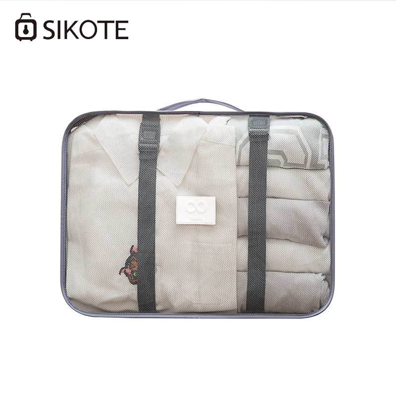 SIKOTE 8pcs/set Travel Storage Bags Shoes Clothes Toiletry Organizer Luggage Pouch Packing Organizers Travel Accessories garment bag
