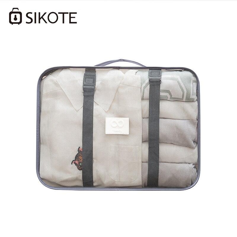 SIKOTE 8 pcs/ensemble Sacs Chaussures Vêtements De Stockage De Voyage de Toilette Organisateur Bagages Poche Emballage Organisateurs Voyage Accessoires