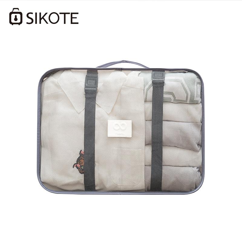 SIKOTE 8 pièces/ensemble sacs de rangement de voyage chaussures vêtements de toilette organisateur pochette de bagages organisateurs d'emballage accessoires de voyage