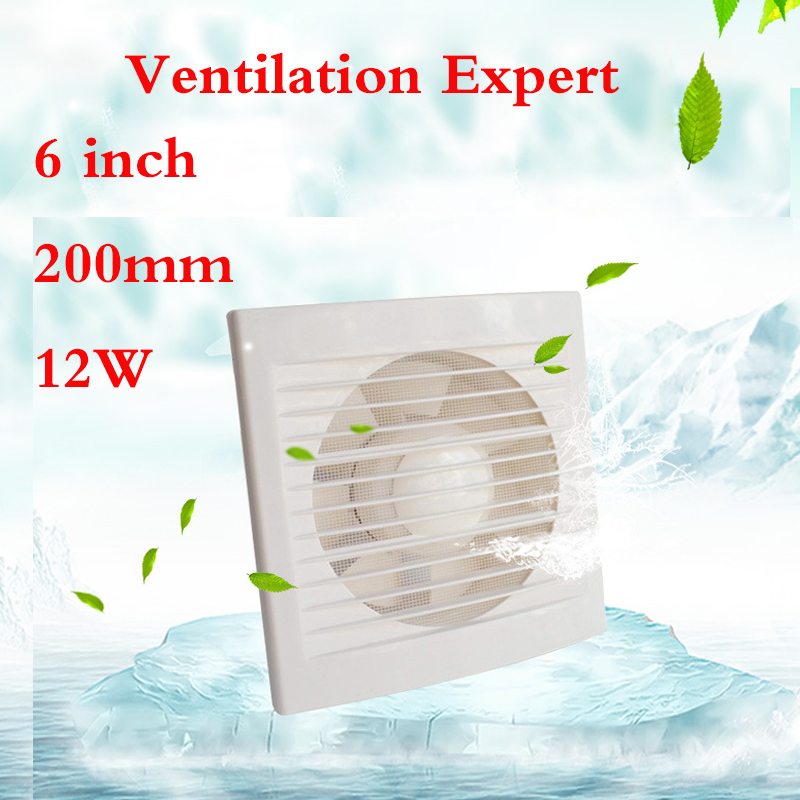 Bathroom Kitchen Wall Window Glass Small Fan 6 Inch 150mm remove TVOC HCHO PM2.5 tvoc tvoc tvoc
