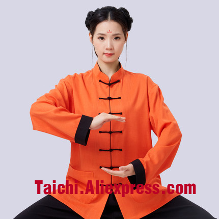 Anti-Wrinkle Linen Tai Chi Uniform Wushu Kung Fu martial art Suit  Chinese Stlye Sportswear Wing Chun Uniform  Jacket Pants painted handmade linen tai chi uniform taijiquan female clothing summer short sleeved wushu kung fu jacket pants