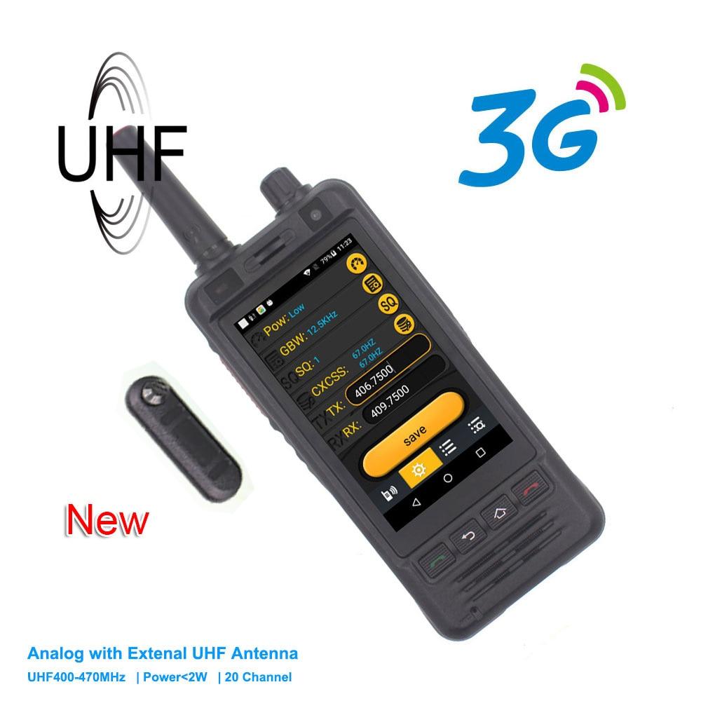 New Anysecu 3G Wifi Radio W5 Android 6 0 Phone PTT Radio IP67 UHF Walkie Talkie