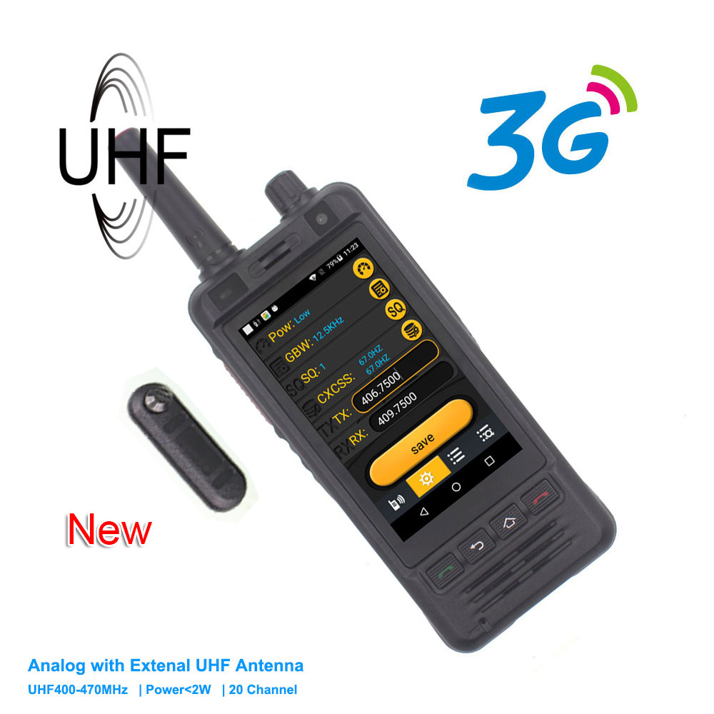 New Anysecu 3G Wifi Radio W5 Android 6.0 Phone PTT Radio IP67 UHF Walkie Talkie 5MP Camera REALPTT ZELLO POC Transceiver