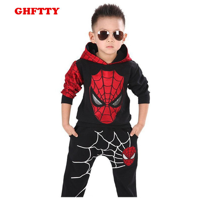 Spiderman Suit Children Boys Clothing set Baby Boy Spider man Sports Suits 3-7 Years Kids 2pcs Sets Spring Autumn  Tracksuits