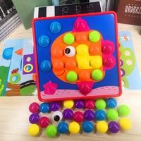 3D Bulmacalar Oyuncaklar Çocuklar Için Kompozit Resim Bulmaca Yaratıcı Mozaik Mantar Tırnak Kiti Eğitici Oyuncaklar Düğme Sanat Çocuk Oyuncak