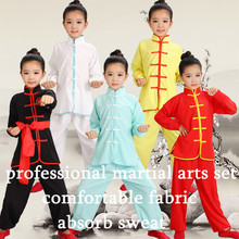 Children Chinese Traditional Wushu Clothing for Kids Martial Arts Uniform Kung Fu Suit Girls Boys Stage Performance Costume Set children chinese traditional wushu costume martial arts uniform kung fu suit boys girls stage performance clothing top pants