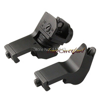 Funpowerland Offest 45 Degree Back Up Iron Sights A2 Style For Rapid Transition Rear Front Sight