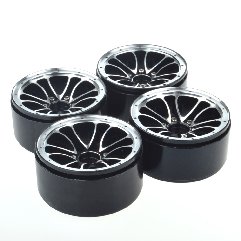 4PCS 1/10 Scale RC Car Crawler 1.9 Inch Heavy Duty Beadlock Alloy Spoke Wheel Rim for 1:10 RC4WD Axial SCX10 Tamiya D90 free shipping 2pcs 1 9 roost version 1 10 scale rc crawler car wheels metal beadlock wheel hubs diameter 53mm