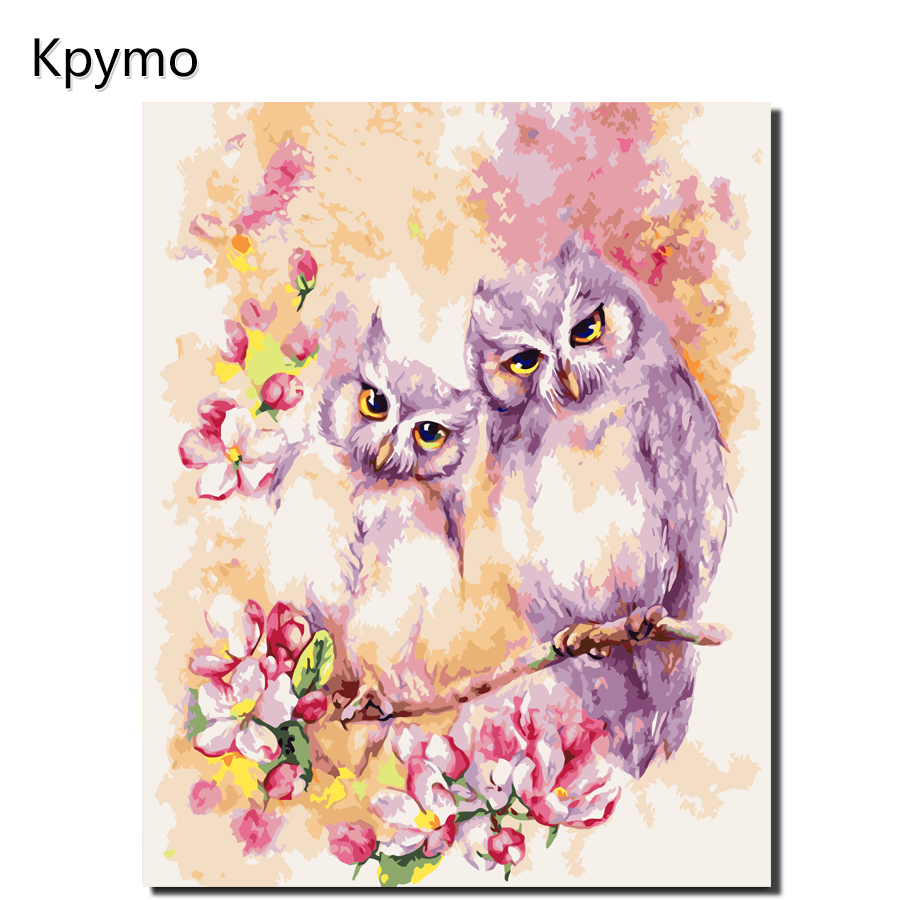 Kpymo Frameless Picture DIY Painting By Numbers Owl Animals Acrylic Picture Kits Drawing Paint On Canvas For Home Wall Art Kpymo Frameless Picture DIY Painting By Numbers Owl Animals Acrylic Picture Kits Drawing Paint On Canvas For Home Wall Art