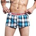 Seobean underwear da marca sexy men underwear boxer shorts de algodão dos homens em casa curto trunks gay pênis bolsa dos homens sleepwear casuais