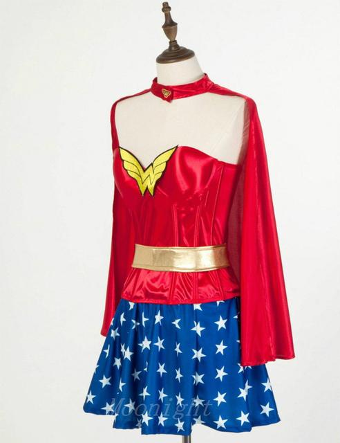 Super Hero Wonder Woman Costume Fancy Dress