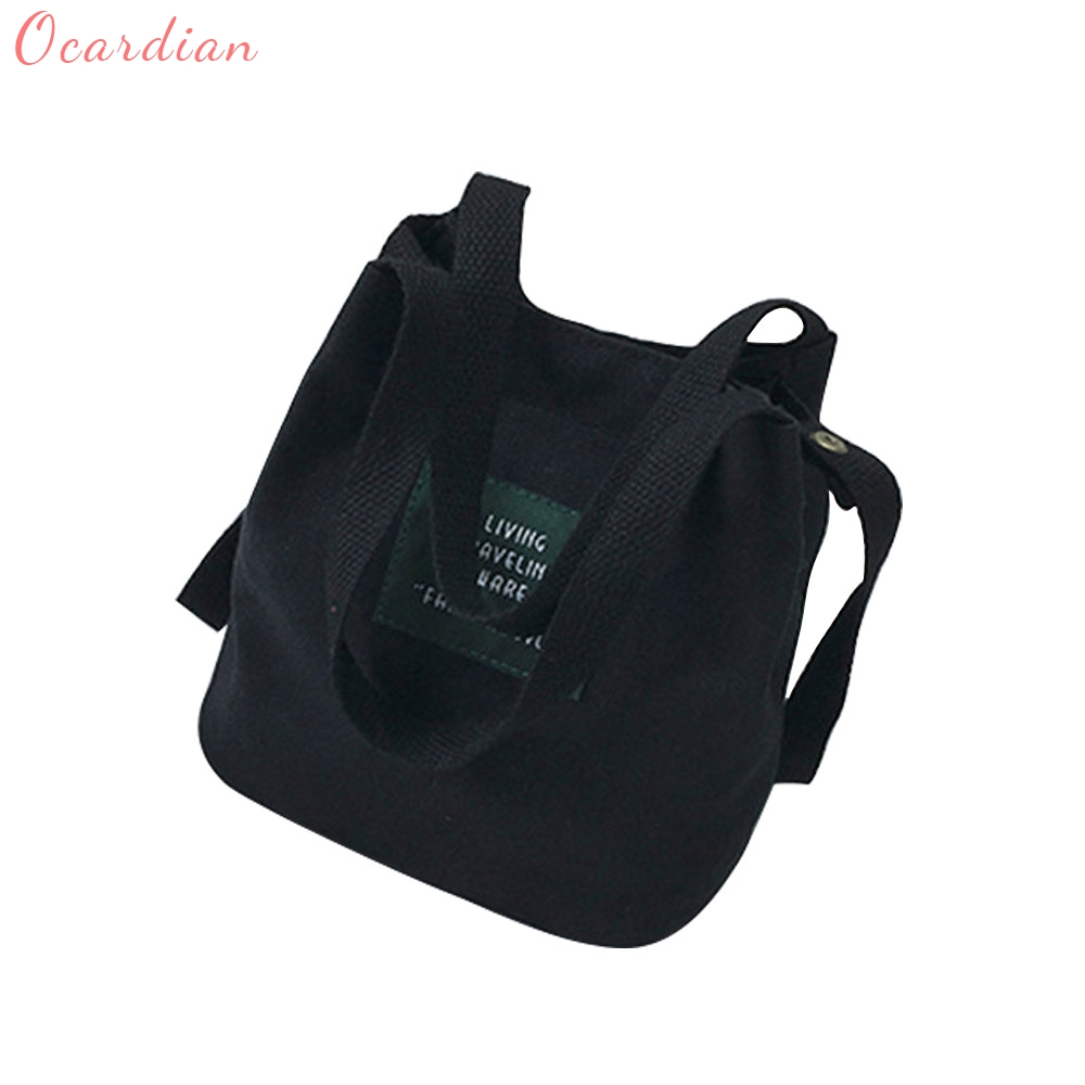 OCARDIAN 2017 Lady Canvas Bag Mini Shoulder Bag Messenger Bag Crossbody Women's Handbag Female Bags Cube Package Dropship 170823 women handbag shoulder bag messenger bag casual colorful canvas crossbody bags for girl student waterproof nylon laptop tote