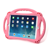 лучшая цена Shockproof Kickstand for iPad 9.7 2017 2018 Case Kids Soft Non-toxic Silicon Children Cover for iPad 2 3 4 Air 2 1 Mini Coque