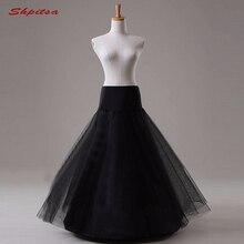 Enaguas de tul para vestido de novia, enaguas largas de crinolina para mujer, falda de Aro para niña, abrigo de fiesta, color negro o blanco