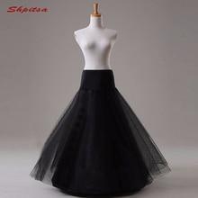 Jupon de mariée en Tulle noir ou blanc pour robe de mariée longue Crinoline femme sous jupe filles jupe cerceau jupon