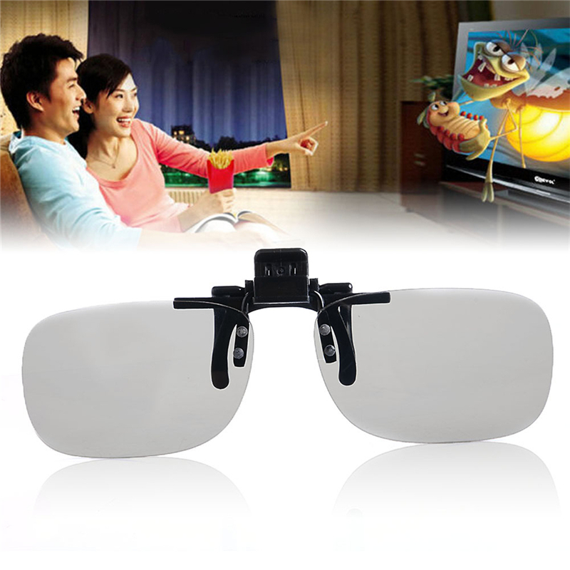 High Quality 1 PC Clip On type Passive Circular Polarized 3D Glasses Clip for 3D TV Movie/Cinema