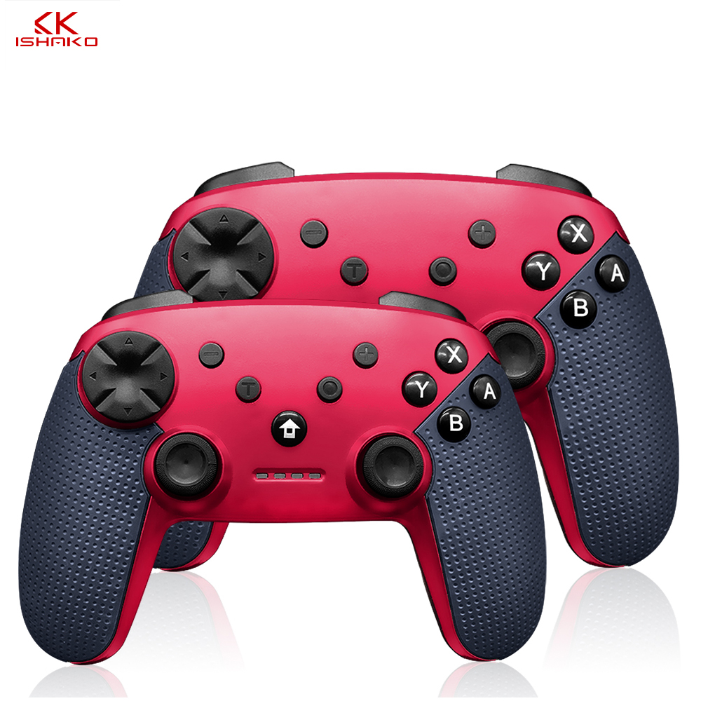K Ishako For Switch Controller Wireless Compatible Nintendo Switch Pro Controller Console Ps3 Blue Red And Black Color Gamepads Aliexpress