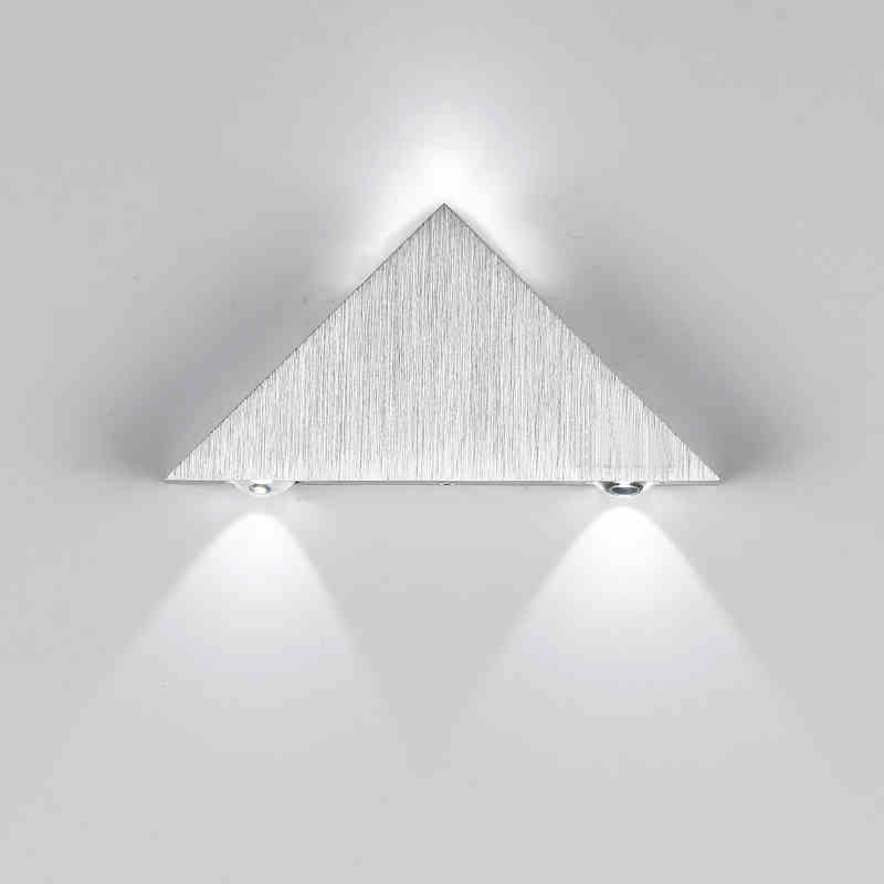 Modern Led Triangle Aluminum 3w Sconce Led Lamp Ac Creative Industrial Light Indoor And Outdoor Lighting Fixtures House Lamparas Easy To Lubricate Lights & Lighting Led Lamps