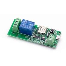 Ewelink толчковой/самоконтрящаяся WI-FI Беспроводной переключатель Smart WI-FI удаленного Управление DC5V/12 В