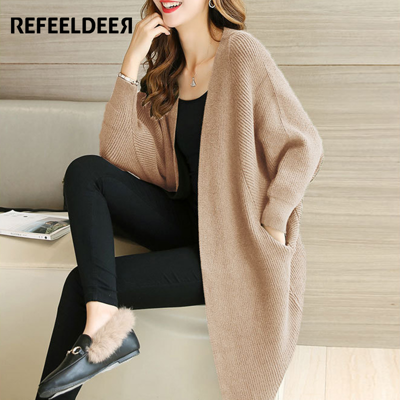 Aliexpress.com : Buy Refeeldeer Plus Size Loose Cardigan Women ...