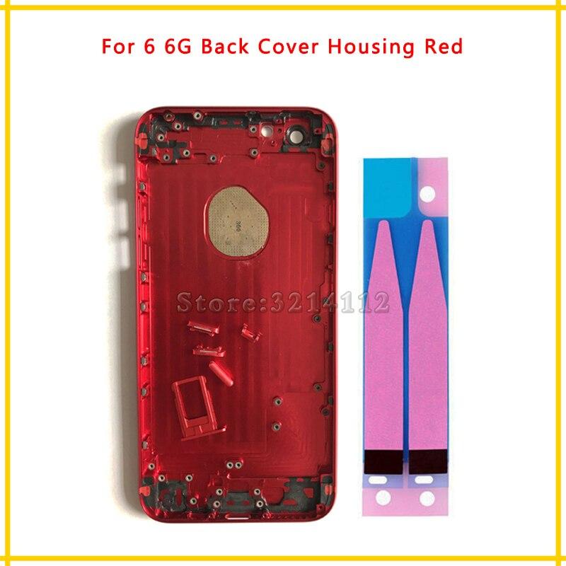 Yüksek Kalite Geri Konut kapak Pil Kapağı Arka Kapı Şasi Çerçeve iphone 6 6G için 4.7 '' ve 6 Artı 5.5 '' + pil sticker