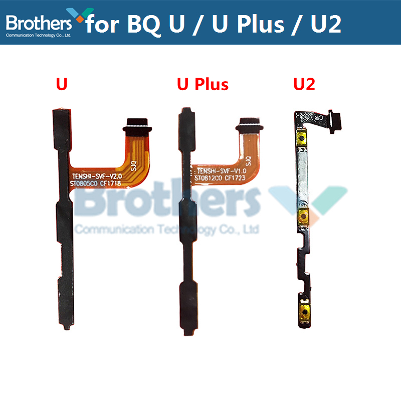 For BQ Aquaris U U Plus U2 Power Flex Cable Volume Buttons Flex Cable For BQ U2 U Plus Power On Off Flex Cable Phone Replacement