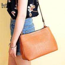цена на BRIGGS Fashion Hobos Bags Genuine Leather Women Shoulder Bag Solid Small Crossbody Bags High Quality Women Messenger Bag sac