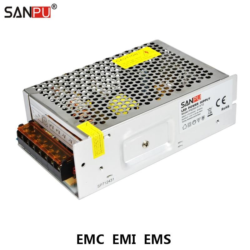 Transformador Fuente de Alimentaci/ón Conductor de DC 12V LED para Tira CCTV MR16 LED 250W 20A