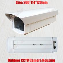 26 centimetri di Lunghezza Esterna Impermeabile CCTV Camera Housing Involucro In Lega di Alluminio Resistente Agli Agenti Atmosferici per la Sicurezza Zoom Box Corpo Macchina Fotografica Della Pallottola