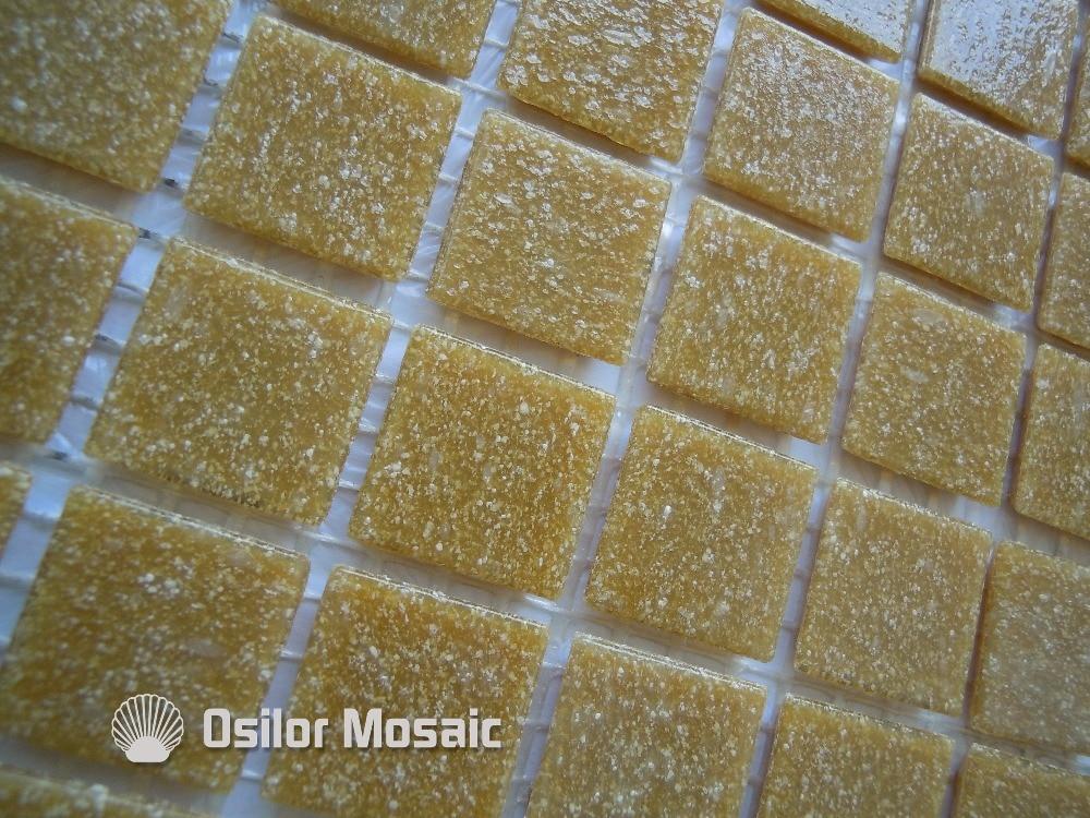 Spedizione gratuita giallo piastrella a mosaico in vetro piastrella