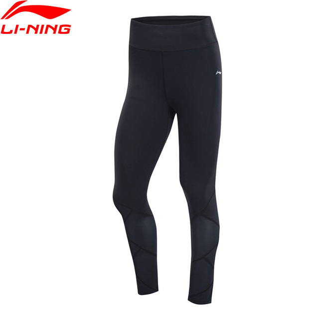 Li-Ning Women Training Series Base Layer Nylon Spandex Tight Fit Comfort LiNing Breathable Fitness Sports Pants AULP048 WKY222