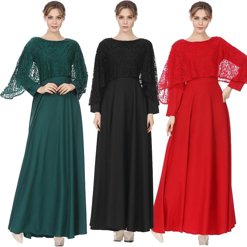 2019 Abaya Muslim Hijab Evening Dresses Islamic Arabic Dress Abayas Robe Musulman Kaftan Dubai Moroccan Vestidos Turkey Clothing Платье