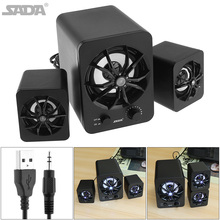 SADA Full Range Combination Speaker 3D Stereo 2.1 Subwoofer PC Portable Bass USB Computer for TV