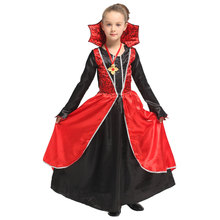 Noble Vampire Costume for Girls Vampiress Princess Halloween Purim Carnival Party Mardi Gras Fancy Dress