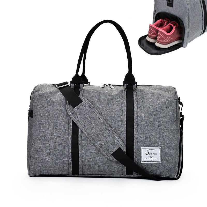 New Large Canvas Men Woman Sport Gym Bag Training Fitness Bags Durable Handbag Luggage Shoes Storage Sac De Sports Tote For Male