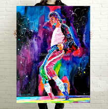 "high quality POP ROCK collector's edition art oil painting –TOP Abstract King Michael Jackson -Free shipping cost–36 "" large-"