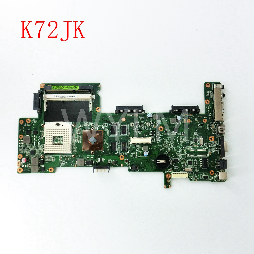 free shipping K72JK HM55 HD5145 1GB mainboard REV2.0 For ASUS X72J K72J A72J K72JK K72JR Laptop motherboard 60-N0AMB1000-A04