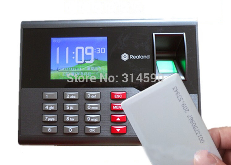 A-C121 TCP/IP Fingerprint Time Clock Employee Fingerprint Attendance Punch Reader Machine Support Spanish French Arabic Language biometric face and fingerprint access controller tcp ip zk multibio700 facial time attendance and door security control system