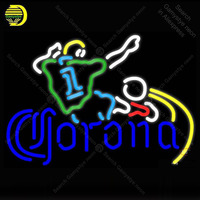 Neon sign For Corona Soccer man Neon Bulb sign store display sport Iconic Handcraft Lamp glass advertise Letrero enseigne lumine