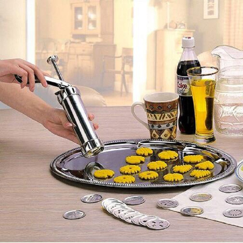 1Set DIY Cookie Tool Biscuit Cookie Extruder Presser Machine Biscuit Maker Cake Making Decorating Gun Kitchen Baking Tools