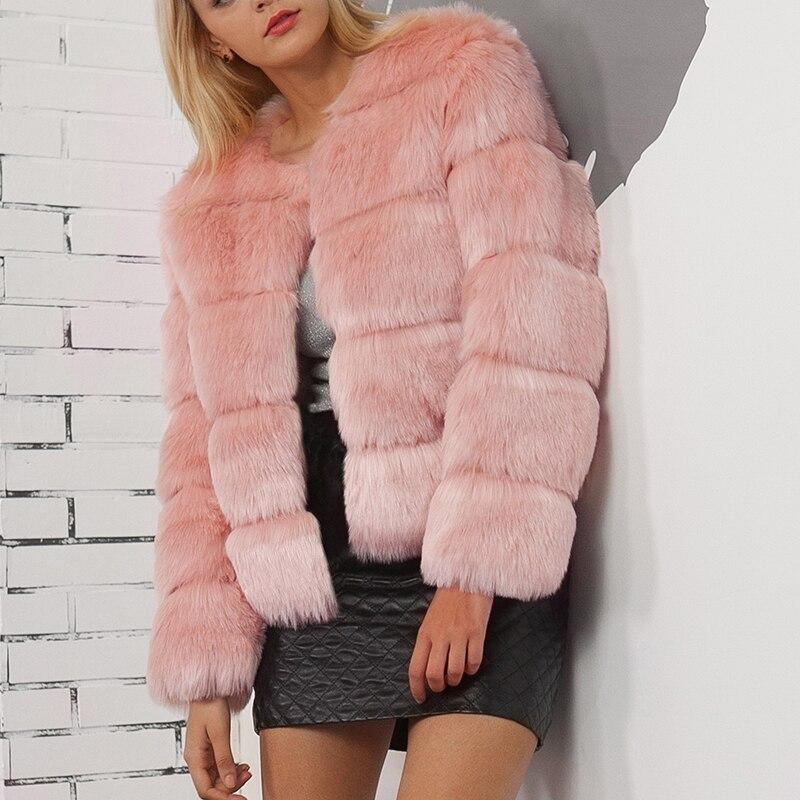 Femme Survêtement Filles Haut Mode Noir Femmes Renard Fourrure Manteau Hiver Manteaux Tailles De Élégant gris Automne rose Veste Faux Vestes Uppin Pour Grandes Rose OwqPS6n6H