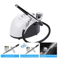 Skin Care Portable Spa Mini Spray Gun Air Paint Face Steamer Nano Sprayer Nebulizer Compressor Water Oxygen Meter Facial Tools
