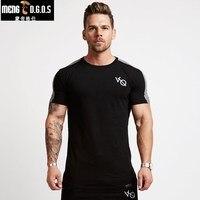 2018 mùa hè phòng tập thể dục t áo Thể Dục Thể Hình Crossfit Slim fit Bông Shirts Ngắn Tay Áo Người Đàn Ông thời trang Chặt Chẽ Tees Tops quần áo