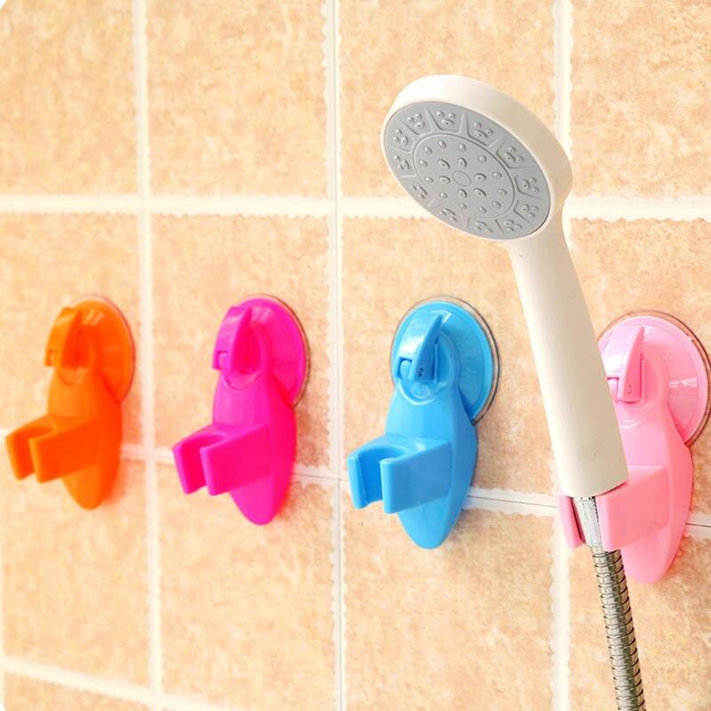 1Pcs Adjustable Shower Sprinkler Holder Portable Shower Head Shelf Plastic Vacuum Suction Type Holder Bathroom Accessories